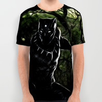 Big Cat On The Prowl All Over Print Shirt by d77thedigartist