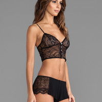 Haute Hippie Bustier Bralette in Black