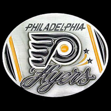 Philadelphia Flyers NHL Enameled Belt Buckle