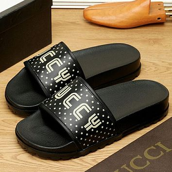 Gucci Fashion Casual  Women Men Sandal  Slipper Shoes