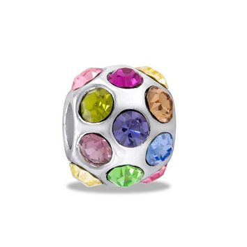 DCCKAB3 DaVinci Beads Multi CZ Cystal Ball Jewelry