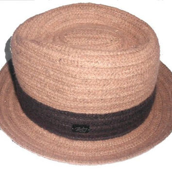 Bailey of Hollywood fedora hat cap (Small, Tan)