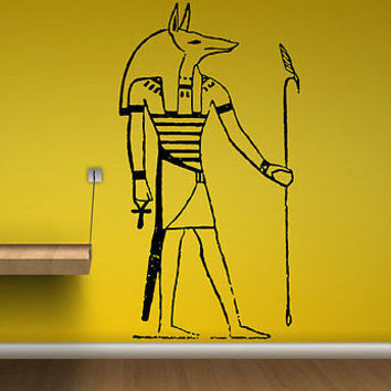 Anubis Sticker Greek Mythology God Wall Decal Art Vinyl Sticker tr287
