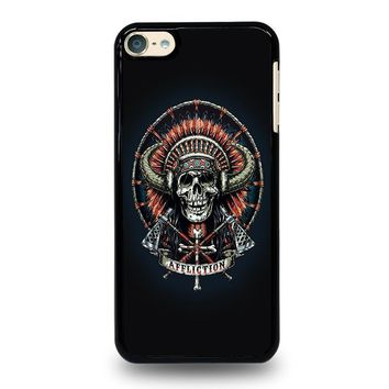 affliction indian skull ipod touch 6 case cover  number 1