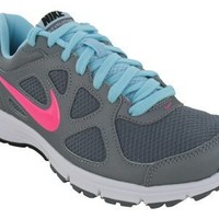 Nike Women's NIKE REVOLUTION WMNS RUNNING SHOES 8.5 (METALLIC COOL GREY/PINK FLSH/SSHLL BL)
