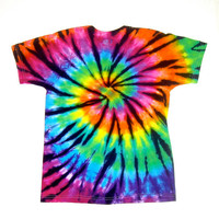 Tie Dye Shirt/ Child Large/ Rainbow Stained Glass