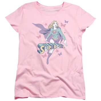 Dc - Supergirl Pastels Short Sleeve Women's Tee