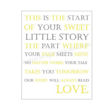 This is the start of your sweet little story the part where your page meets mine – 8×10 Art Print