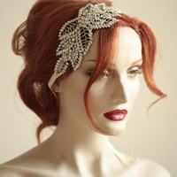 Vintage inspired bridal side tiara headpiece by bridalcouture