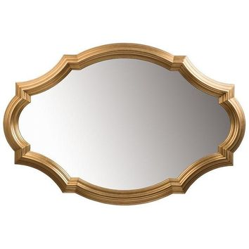 GM Luxury Sebastien Decorative Wall Art Mirror for Elegant Design, Gold Leaf 50x33.5