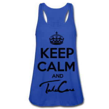 Keep Calm And Take Care Tank Top (Blue)
