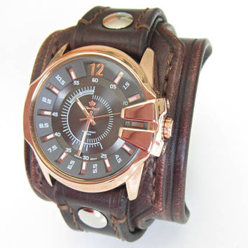 Brown Watch, Mens Watch, Wrist Watch, Handmade Watch