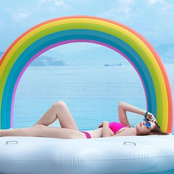 Giant Inflatable Rainbow Cloud Pool Float