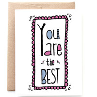 Best Friend Card - Supportive Card - You Are the Best by Yellow Daisy Paper Co.