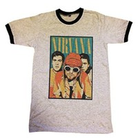 Nirvana Shirt Funny T-shirt Kurt Cobain Dave Grohl Rock Band Gray Size M J140