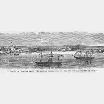 Occupation of Norfolk, Virginia - Federal Vessels at Anchor (Paper Poster)