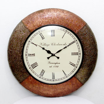 Aakashi Tagari Mix Metal Wall Clock