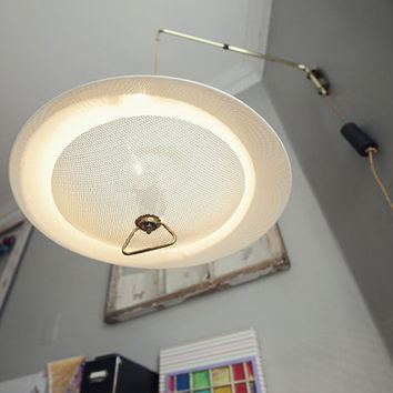 mid century tension wall-mount lamp