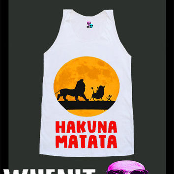 worldwide shipping just 7 days HAKUNA MATATA shirt by voguecraze