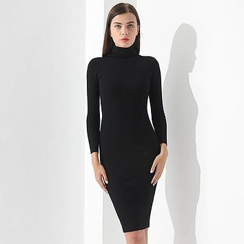 The Works Well Every Day Turtleneck Dress