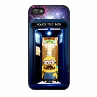 Tardis Doctor Who Minion With Mustache iPhone 5s Case