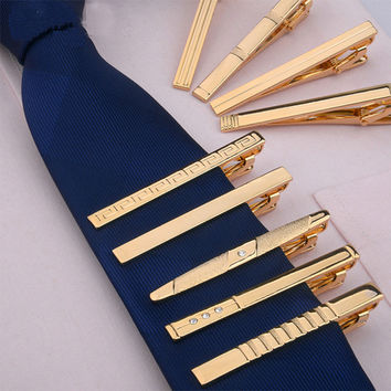 11 Style Stainless Steel Men Wedding Business Tie Clip Pin Buckle Gold Tie Clip Men Fashion Jewelry Clothing Accessories FHJ333