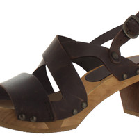 Sanita Olympia Women's Casual Leather Sandals Shoes Clogs