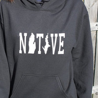 Michigan Native Hoodie, Sweatshirt, State, Home, Mitten