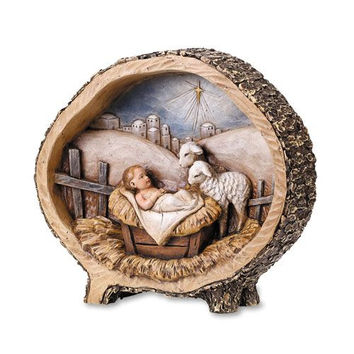 "8.5"" Baby Jesus With Lamb Fig"