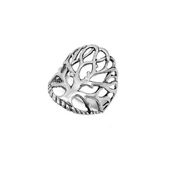 Tree of Life Wiccan Ring 24MM Sterling Silver 925