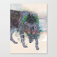 Journeying Spirit (wolf) Canvas Print by Mat Miller