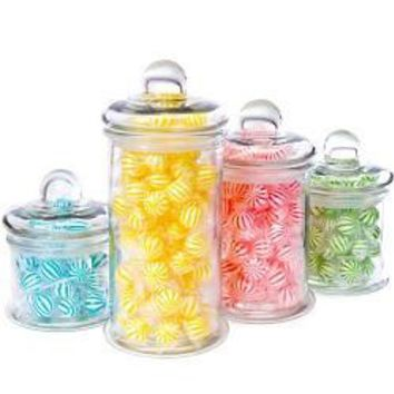 4-Piece Round Glass Canister Set w/ Ball Lids 101319