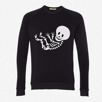 Maternity Skeleton Unisex fleece crewneck sweatshirt