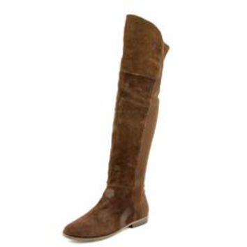 Chinese Laundry Riley Women Round Toe Suede Brown Over the Knee Boot - Sears