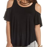 Cold Shoulder Swing Tee by Charlotte Russe
