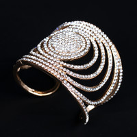 Wave Rhinestone Bangle