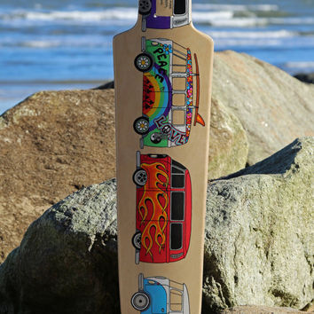 "SP8BOARDS ""Bomber"" - a longboard deck with a good concave and no kicktails ideal for freestyle or downhill"