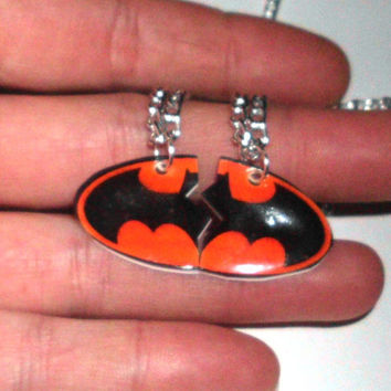 Batman Friendship Necklace, BFF Necklace, Best Friends, Necklaces, Charm Pendant, Jewelry