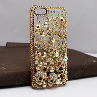 iPhone Case punk style iPhone Cases,Skull iPhone 4 cases, iPhone 4S Case with heart hole shinny basic Skull iPhone Case