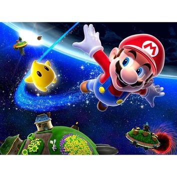 """Super Mario party nes switch Full Square/round paste beads 5D DIY Diamond Painting cartoon """""""" 3D Embroidery Cross Stitch Mosaic Home Decor YF1349 AT_80_8"""