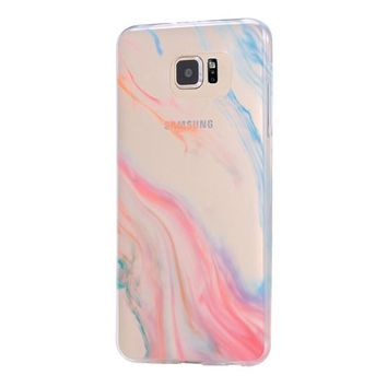 Pastel Silk Abstract Galaxy s6 Case Galaxy S6 Edge Case Galaxy S5 Clear Hard case C116