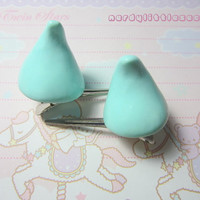 Fairy Kei Pastel Horn Hair Clips