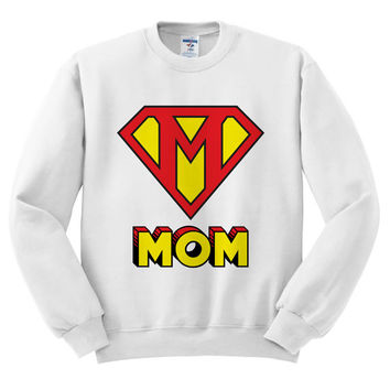White Crewneck This Mom Is Super Mother's Day Sweatshirt Sweater Jumper Pullover