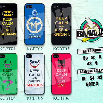 Keep Calm, Batman, Joker, iPhone 5 case, iPhone 5S case, iPhone 5c case, Phone case, iPhone 4 Case, iPhone 4S Case, Phone Skin, KCBT01