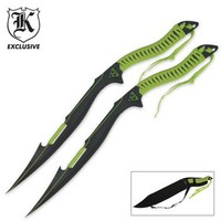 BUDK Catalog: Undead Apocalypse Twin Sword Set With Sheath
