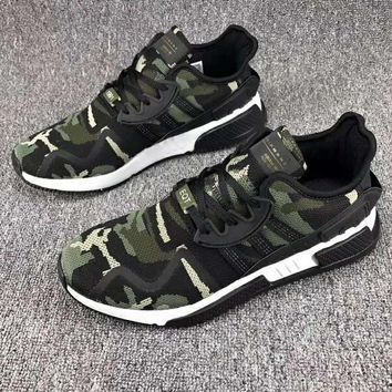 Adidas EQT Cushion Fashion Man Running Sport Casual Shoes Sneakers Army green Camouflage G-CSXY