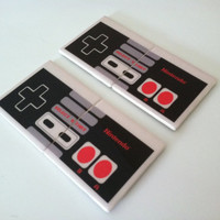 NES Nintendo Controllers  Drink CoastersSet of 4 by TiledMemories