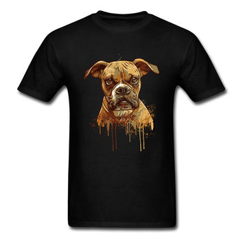 Short Clothing 100% Cotton Youth Paint my dog Mens Formal Shirts Dog Funny Adult Unique T Shirts