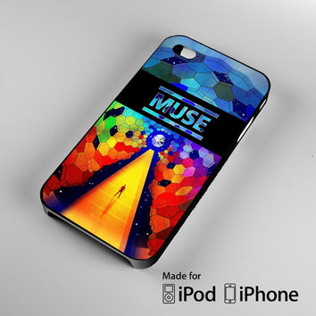 muse logo rainbow A1244 iPhone 4 4S 5 5S 5C 6, iPod Touch 4 5 Cases