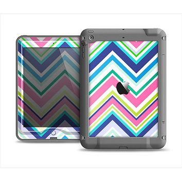 The Vibrant Colored Chevron Pattern V3 Apple iPad Mini LifeProof Nuud Case Skin Set